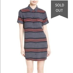 Equipment Stripe Silk Shirt Dress